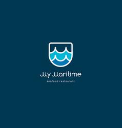 my maritime seafood restaurant logo vector image