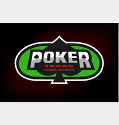 Poker emblem on the background of a green table vector