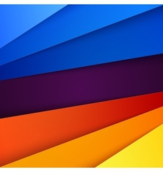 Red orange yellow and blue paper layers abstract vector