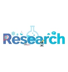 Research banner flat style design vector