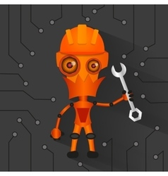 Robot electronics technology vector