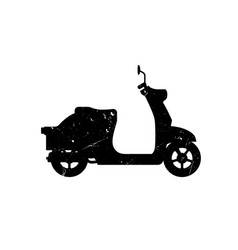 scooter silhouette vector image