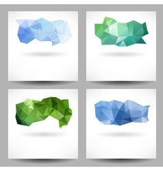 Set of backgrounds with abstract triangles vector image