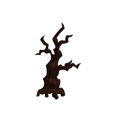 Sinister tree icon in cartoon style vector