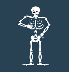 skeleton thumbs up emoji skull winks emotion vector image vector image