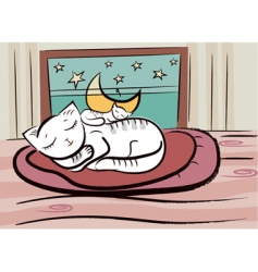 sleep cats vector image vector image