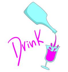 sticker drink vector image vector image