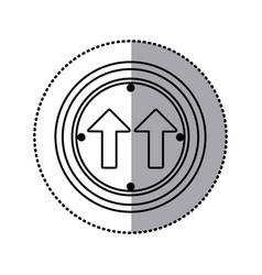 sticker silhouette circular frame same direction vector image