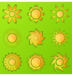 sun icons2 vector image vector image