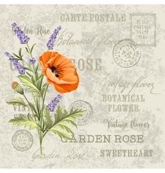 The lavender elegant card vector