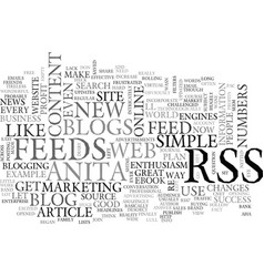 Why should i use blogs and rss feeds text word vector