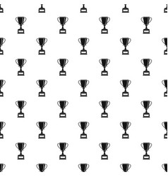 Winning gold cup pattern vector