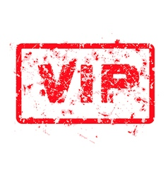 Word vip red grunge stamp isolated vector