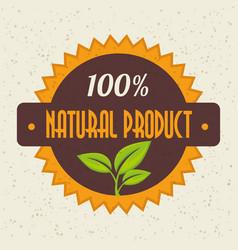 100 percent natural design vector image