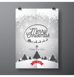 Merry christmas design and snowflakes vector