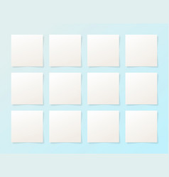 12 pieces blank sheet of white paper with the vector