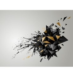 Geometric abstract banner with black color and vector