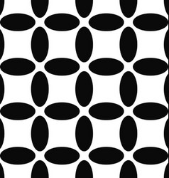 Seamless abstract black and white ellipse pattern vector