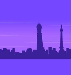 Silhouette of london building city landscape vector