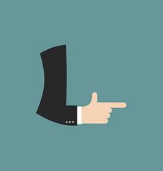 L letter businessman hand font it shows finger vector
