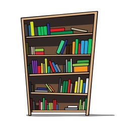 Cartoon of a bookshelf vector image
