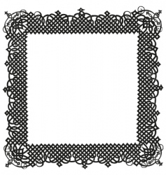 Turkish ornamental frame vector