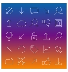 Set universal linear icons vector