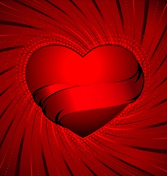 red heart swirl vector image