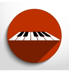 Piano keys web icon vector