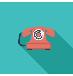 Vintage phone icon vector