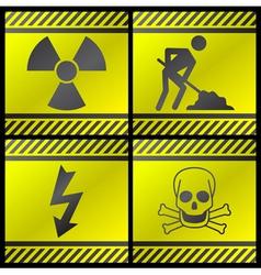 Danger industry icons vector