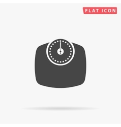 Bathroom scale simple flat icon vector