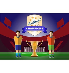 Two champion football clubs vector