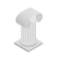 Roman column icon isometric 3d style vector
