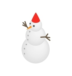 Snowman icon isometric 3d style vector image