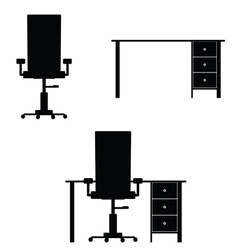 Chair and table vector