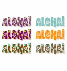 aloha word vector image
