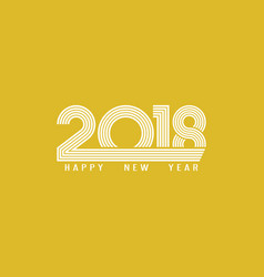 banner 2018 happy new year typography design vector image