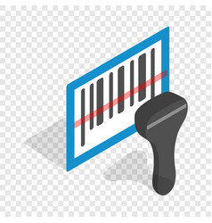 Barcode scanner isometric icon vector