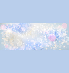 blue snow banner vector image vector image