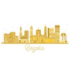 Bogota colombia city skyline golden silhouette vector