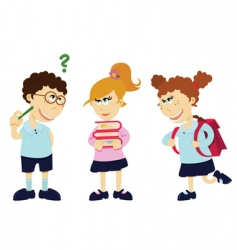 cartoon students vector image