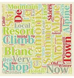 Chamonix mont blanc text background wordcloud vector