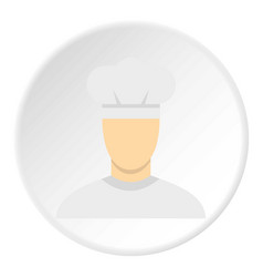 chef icon circle vector image