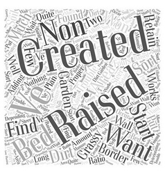 Creating a raised bed word cloud concept vector