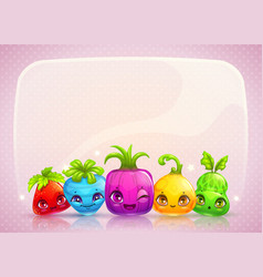 cute childish banner vector image vector image