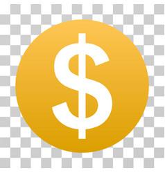 dollar coin gradient icon vector image