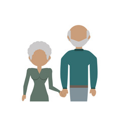 Elderly couple family parents image vector