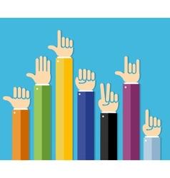 flat Hands Set vector image vector image