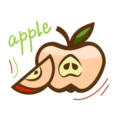 fresh apple 1 vector image